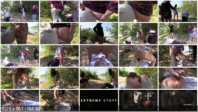 MilanaSmelly - Kiss our asses and eat our shit [Outdoor Scat / 572 MB] HD 720p (Scatology, Femdom)