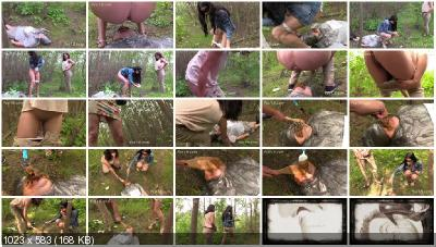 MilanaSmelly - Free toilet for girls in the forest [Humiliation Scat / 929 MB] HD 720p (Femdom, Outdoor)