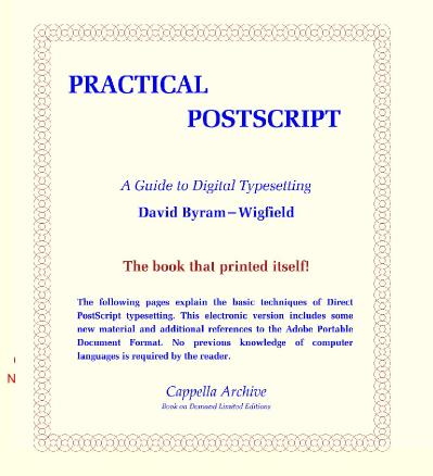 Practical PostScript  A Guide to Digital Typesetting