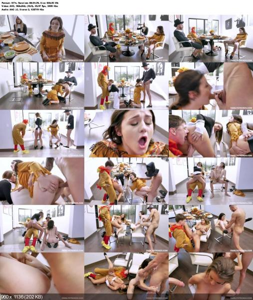 Brooklyn Chase, Rosalyn Sphinx - Thanksgiving Snatch Stuffing (Teen, Young) FamilyStrokes.com / TeamSkeet.com [SD] ()