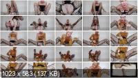MissAnja HD 720p Giant Poo, Scat Pussy Play, Face Smear/Fishnets [Panties, Poop Videos, Scat, Smearing, Solo]