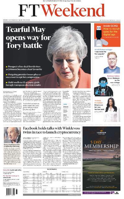Financial Times UK - 25 05 2019 - 26 05 (2019)