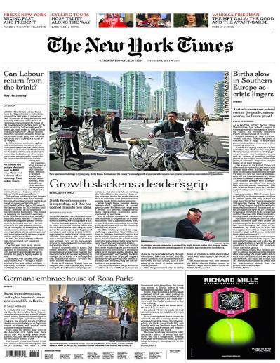 International New York Times  4 May (2017)