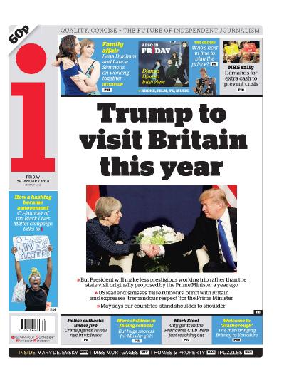 The i Newspaper  January 26 (2018)