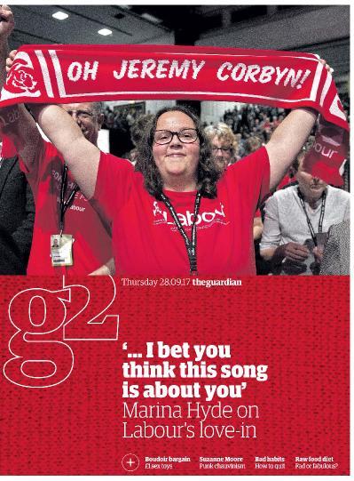 The Guardian g2 magazine  September 28 (2017)