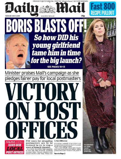 Daily Mail   13 06 (2019)