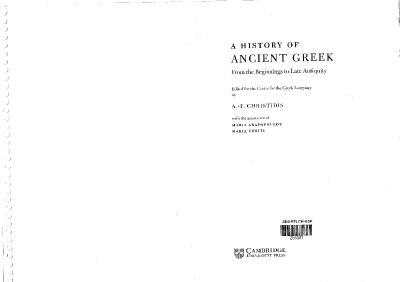 A History of Ancient Greek   From the Beginnings to Late Antiquity