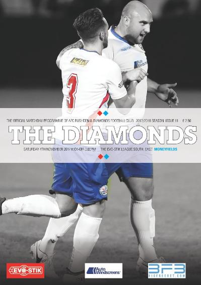 AFC Rushden & & Diamonds Matchday Programme 03 November (2017)