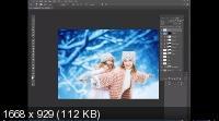 Снежная зима. 5 разных техник обработки в программе Photoshop (2019)