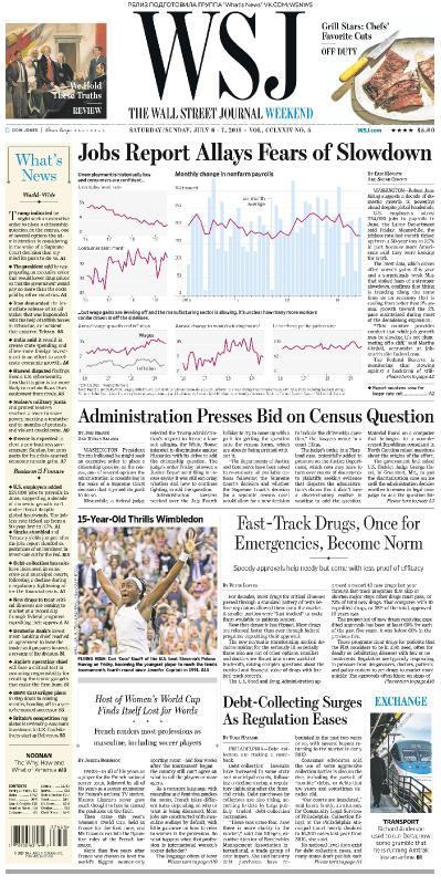 The Wall Street Journal   06 07 2019   07 07 (2019)