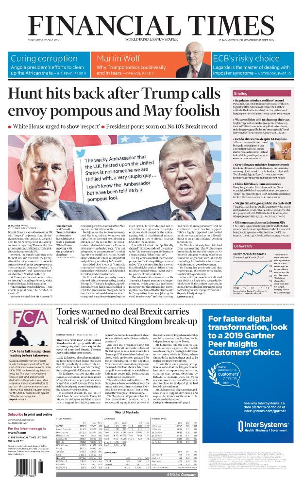 Financial Times (UK) - No  40,138 [10 Jul 2019]