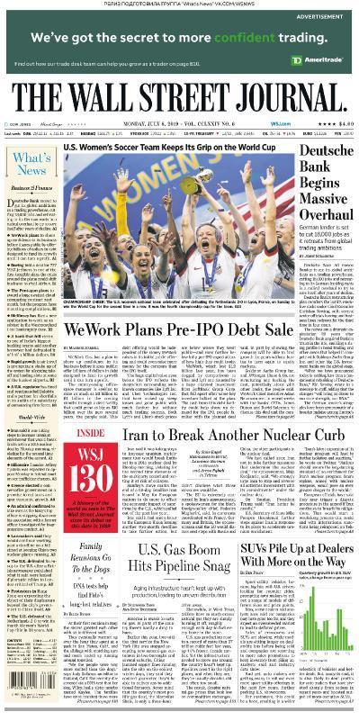 The Wall Street Journal   08 07 (2019)
