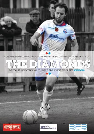 AFC Rushden & & Diamonds Matchday Programme  17 November (2017)