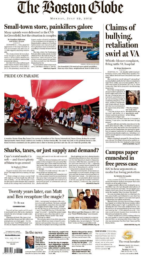 The Boston Globe - Vol 296 No 029 [29 Jul 2019] | Free