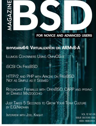 BSD Magazine   August (2018)