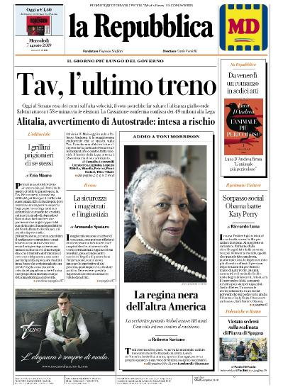 La Repubblica   07 08 (2019)