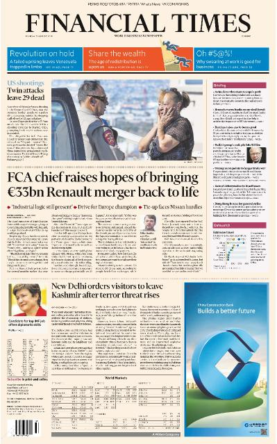Financial Times Europe   05 08 (2019)