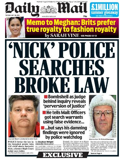 Daily Mail   30 07 (2019)