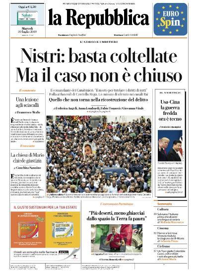 la Repubblica   30 07 (2019)