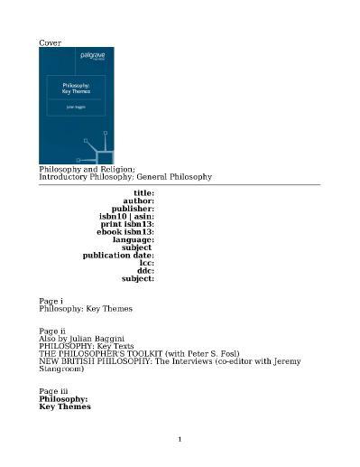 Philosophy Key Themes
