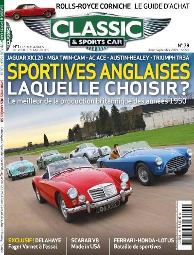 Classic et Sports Car N 79  Ao 251 t Septembre (2019)