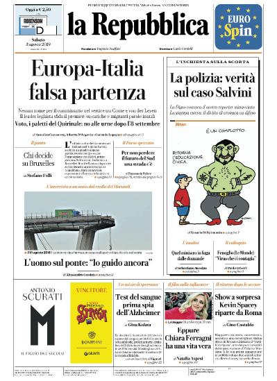 la Repubblica   03 08 (2019)