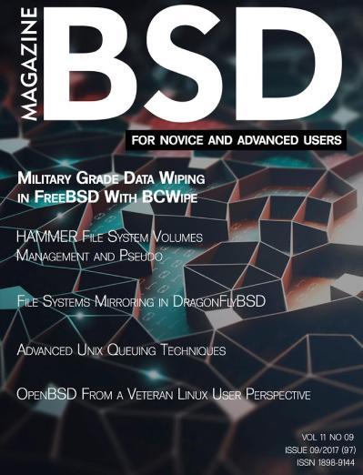 BSD Magazine  September (2017)