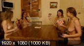 Arty (38), Lucy (44), Nelly (43), Paulina Soul (31) - Four housewives turning a night of strippoker into a steamy lesbian groupsex party / 13462 [1080p]