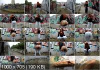 Pooping in Public Place with Graffiti with janet [UltraHD/4K / 2019]