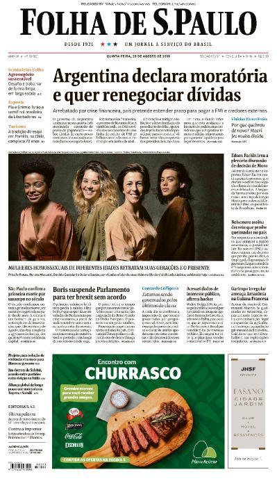 Folha de S 227 o Paulo - 29 08 (2019)