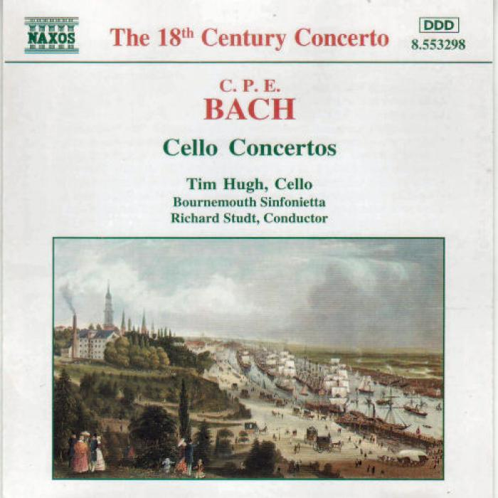 C P E  Bach   Cello Concertos   Bournemouth Sinfonietta, Tim Hugh, Richard Studt  ...