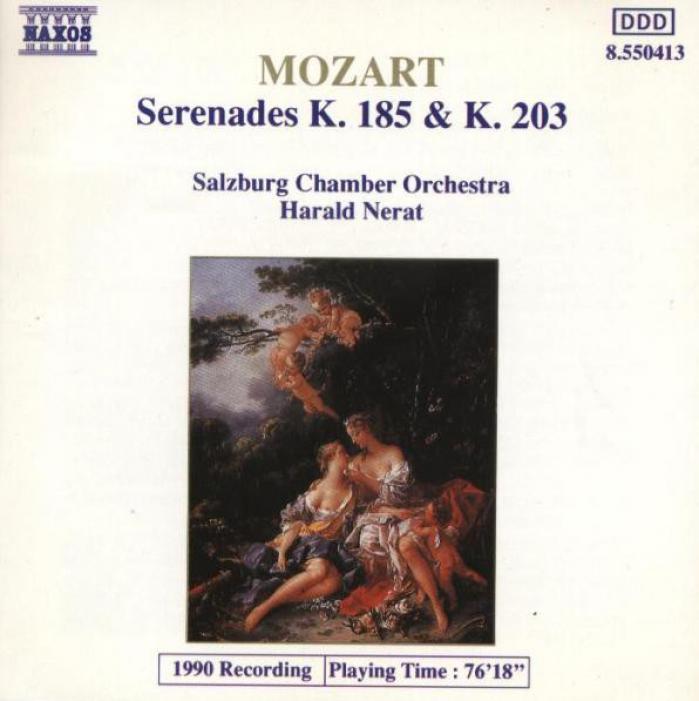 Mozart   Serenades, K185 & K203   Salzburg Chamber Orchestra, Nerat   Naxos Release