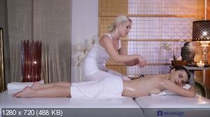 Lovita Fate, Hayli Sanders - Blonde masseuse pleases skinny babe [720p]