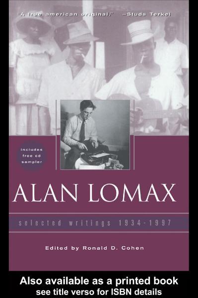 Alan Lomax Selected Writings, 1934-(1997)