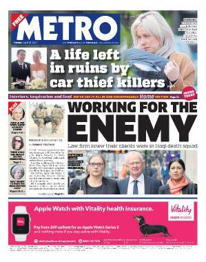Metro UK  April 25 (2017)